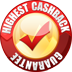 our best cashback rate guarantee